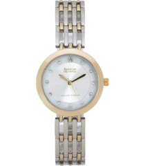 american exchange ladies genuine diamond collection watch, 28mm