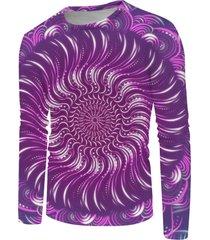 3d bohemian print long sleeve t-shirt