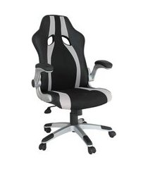 cadeira gamer hanzo preta e prata