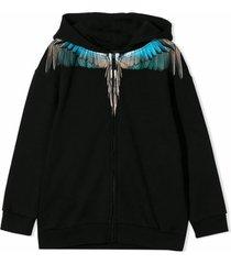 marcelo burlon black cotton sweatshirt