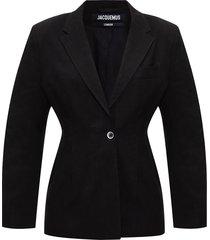 'novio' blazer with notched lapels