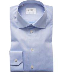 eton overhemd mouwlengte 7 slim fit lichtblauw