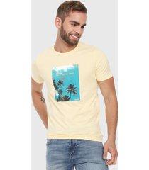 camiseta amarillo-azul jack & jones