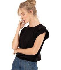 camiseta amatis negro ragged pf51120503