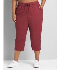 lane bryant women's livi knit trouser capri 30/32 zinfandel