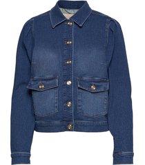 aiden puff jacket jeansjack denimjack blauw mos mosh