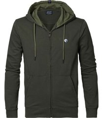 petrol industries m-1010-swh303 sweater hooded 6093 dark army -