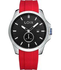 reloj loix hombre rojonegro ref l2108-6
