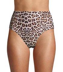 leopard-print bikini bottom