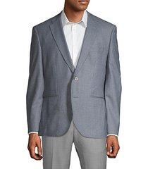 gingham regular-fit wool jacket