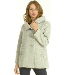 abrigo corto gris bou's