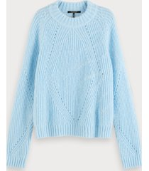 scotch & soda cable knit wool-alpaca blend pullover