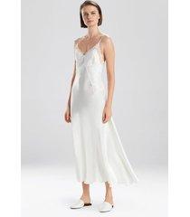jolie silk gown pajamas / sleepwear / loungewear, women's, white, 100% silk, size l, josie natori
