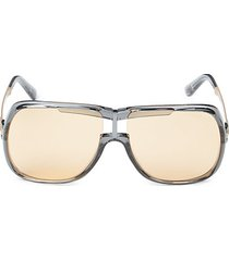 62mm solid shield sunglasses