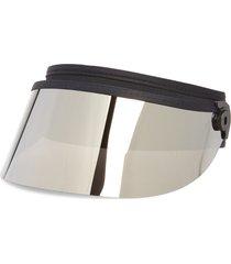 bluestone sunshields shorty lux visor in black/chrome at nordstrom