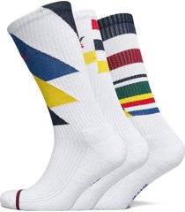 th unisex tommy jeans giftbox 3p underwear socks regular socks vit tommy hilfiger