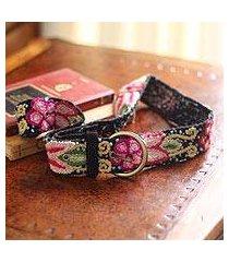 wool belt, 'festive huanta' (peru)