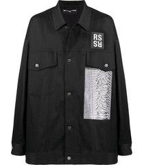 archive redux oversized denim jacket, black