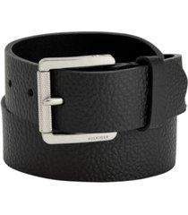 tommy hilfiger knarled buckle leather belt