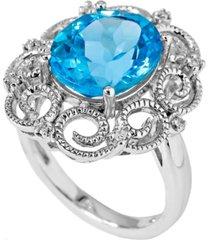 women's milgrain ring in sterling silver