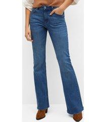 mango women's flared jeans