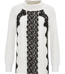 maglione con pizzo (bianco) - bodyflirt boutique