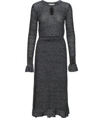 elena-ldr_lurex jurk knielengte grijs storm & marie
