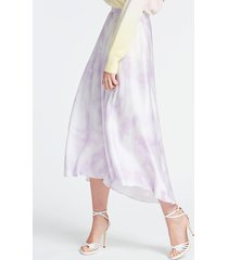 długa spódnica z wiskozy z efektem tie-dye
