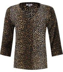 blusa prense animal print color negro, talla l