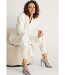 na-kd shoes högklackade skor med knyt - blue
