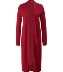 lang vest van wol en zijde van laura biagiotti roma rood
