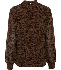 blouse met smokwerk