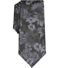 bar iii men's glacier skinny floral tie, created for macy's