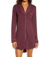 women's nordstrom moonlight dream sleep shirt, size small - burgundy