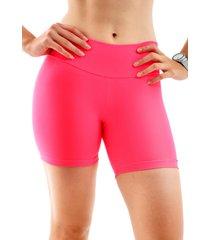 shorts mama latina suplex rosa - rosa - feminino - poliamida - dafiti