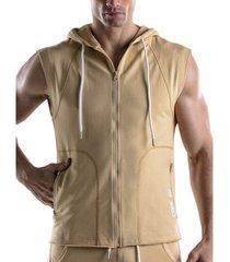 trainingsjack code 22 mouwloos vest met kap force code22