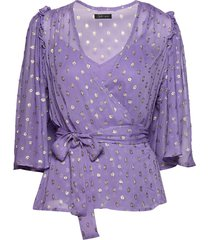 steffy blouses short-sleeved paars stella nova