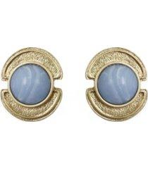 stephanie kantis sheath in blue chalcedony stone earring