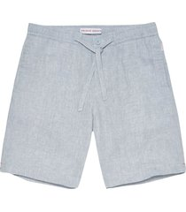 orlebar brown harton linen shorts - chambray 26935630