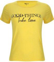 camiseta good things color amarillo, talla s