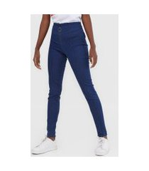 calça jeans lez a lez jegging recortes azul