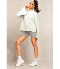mix & match edition step hem hoodie, sage
