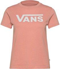 flying v crew tee t-shirts & tops short-sleeved rosa vans