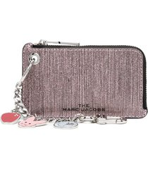 the marc jacobs chain charm zip wallet - pink