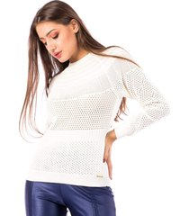 blusa tricot carlan africana manga raglan decote redondo