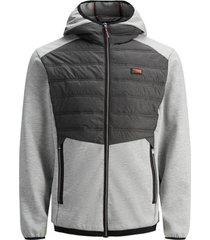 donsjas jack & jones 12184739 jcotoby hibrid jacket noos light grey melange