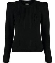 elisabetta franchi long sleeve crew-neck sweater