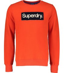 superdry sweater - slim fit - rood