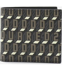 dsquared2 wallet with all-over monogram print