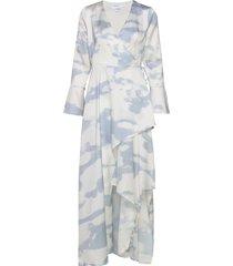 kacy long wrap dress maxiklänning festklänning vit designers, remix